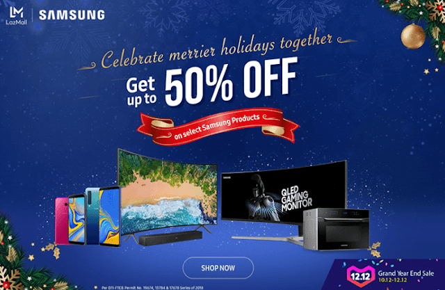 Samsung offers discounts up to 50% at Lazada's 12.12 Grand Year End Sale