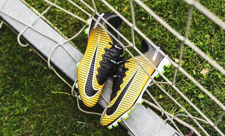 pretty nice dd2e7 840af Featuring the updated look of the Nike Mercurial Superfly V football boots,  the Laser Orange Nike Mercurial Superfly 2017 soccer cleats boast the large  Nike ...