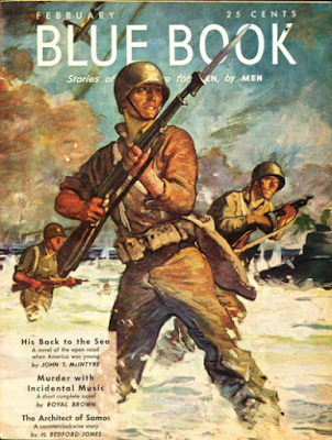 A dramatic cover from World War 2 days.  A special edition went out to servicemen overseas.