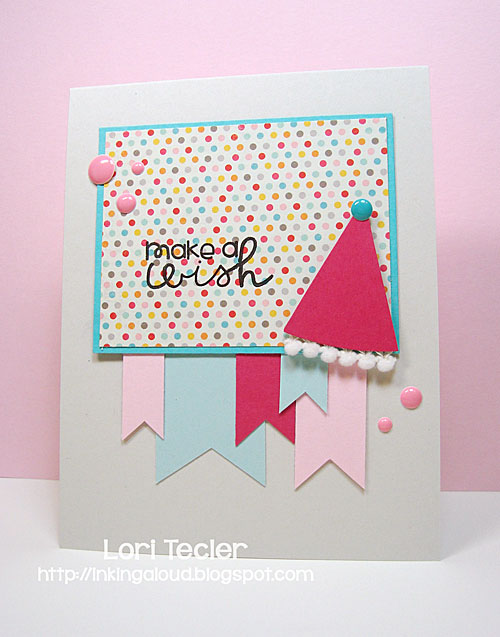 Make a Wish card-designed by Lori Tecler/Inking Aloud-stamps from Paper Smooches