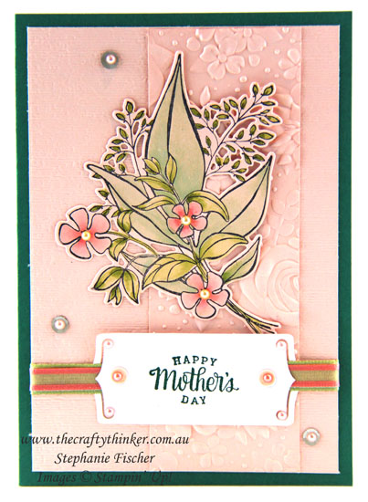 #thecraftythinker #stampinup #wonderfulromance #saleabration2019 #mothersdaycard #cardmaking , Wonderful Romance bundle, Country Floral, Mothers Day Card, Stampin' Up Australia Demonstrator, Stephanie Fischer, Sydney NSW