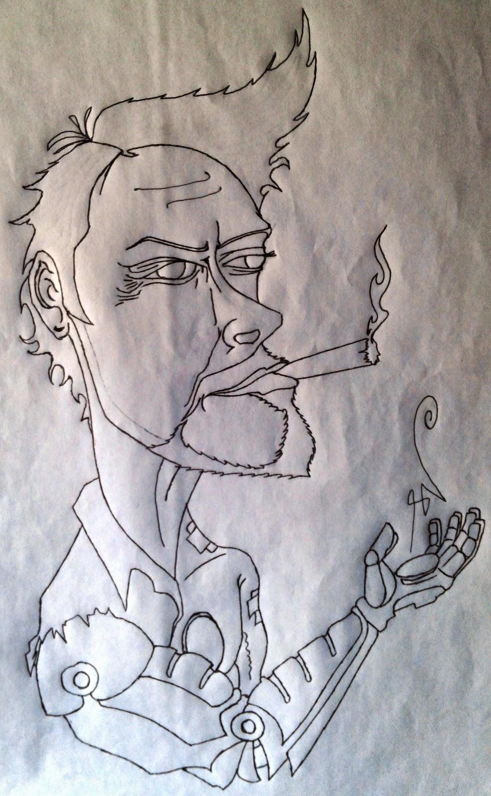 Ignite Dreams : Rough caricature of Tony Stark