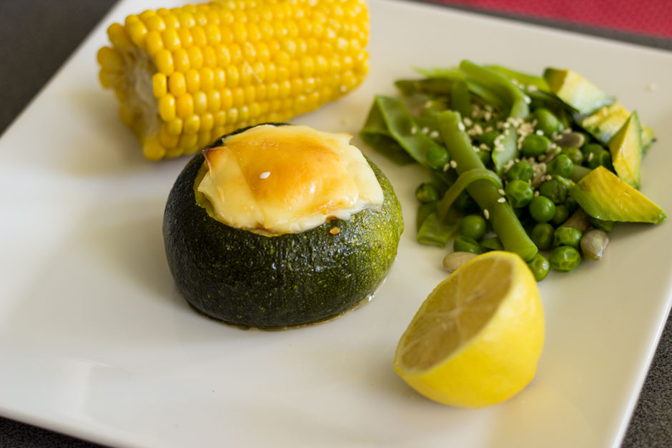 Zapallo italiano relleno con verduras receta f cil y for Cocinar para 40 personas