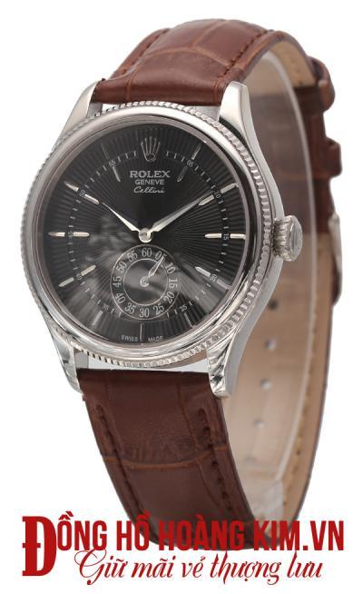 đồng hồ nam rolex dây da giảm giá đẹp