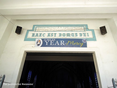 Puerto Princesa Travel Guide: the entrance of the Immaculate Conception Cathedral
