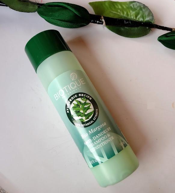 Biotique Margosa fresh daily dandruff shampoo and conditioner