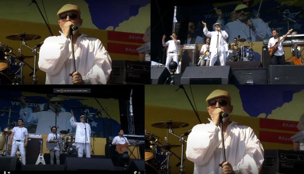 Miguel Bosé contro Maduro nel concerto Venezuela Aid Live.