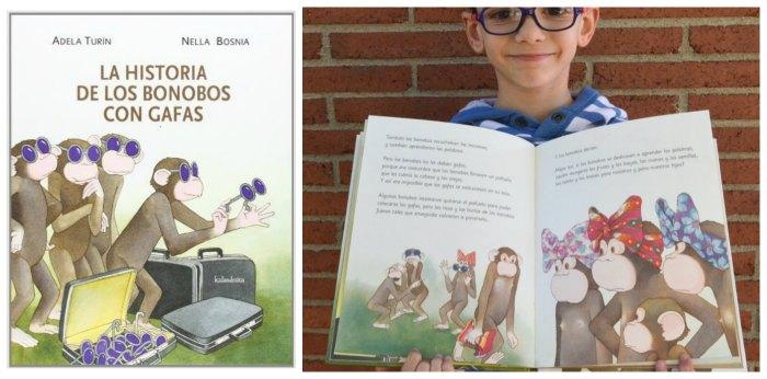 cuentos infantiles historia bonobos gafas para hacer pensar, reflexionar, sentido ética moral niños