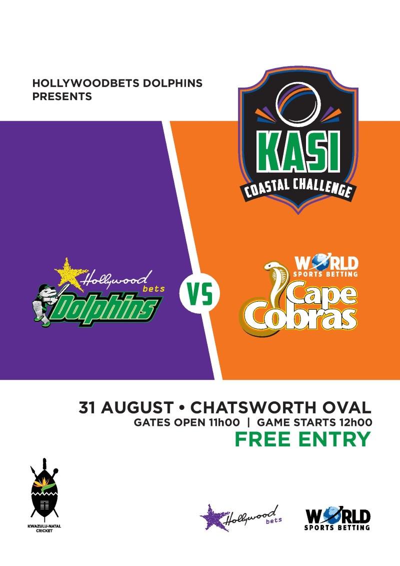 Kasi Coastal Challenge - Poster - Hollywoodbets Dolphins vs WSB Cape Cobras