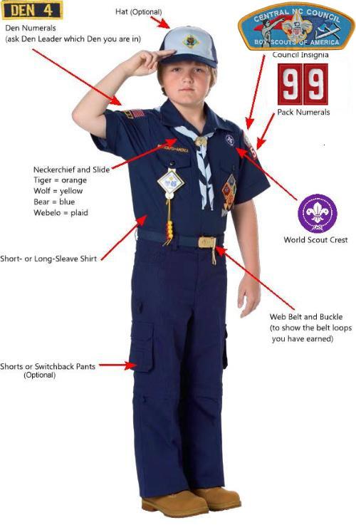 Weddington NC Cub Scout Pack 99: Cub Scout Uniform - Guideline