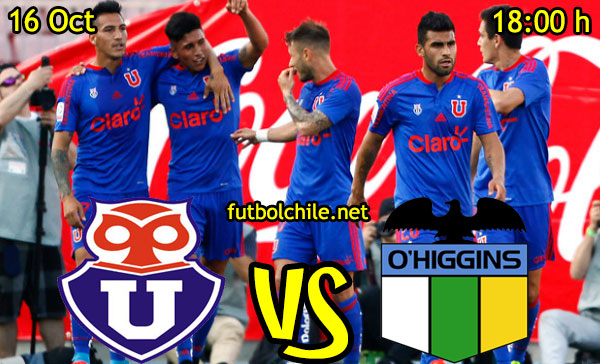 Ver stream hd youtube facebook movil android ios iphone table ipad windows mac linux resultado en vivo, online:  Universidad de Chile vs O'Higgins,