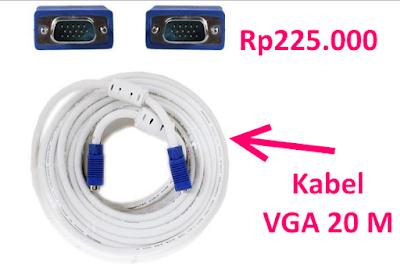 harga kabel vga 20 meter