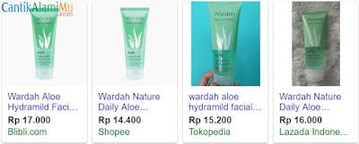 Harga Wardah Aloe Hydramild Facial Wash