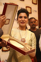 Samantha Ruth Prabhu in Cream Suit at Launch of NAC Jewelles Antique Exhibition 2.8.17 ~  Exclusive Celebrities Galleries 022.jpg