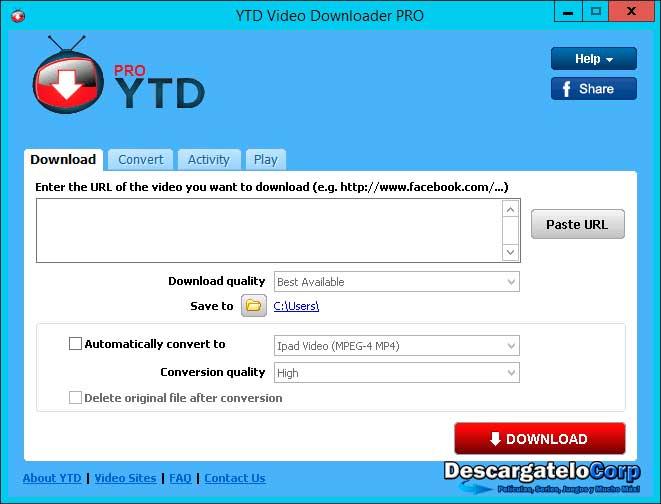 YTD Video Downloader PRO Full Descargar Vídeos Gratis