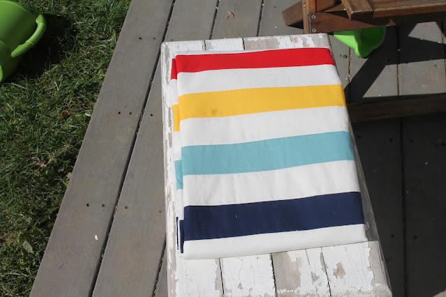 DIY Hudsons Point-inspired duvet cover to sew.