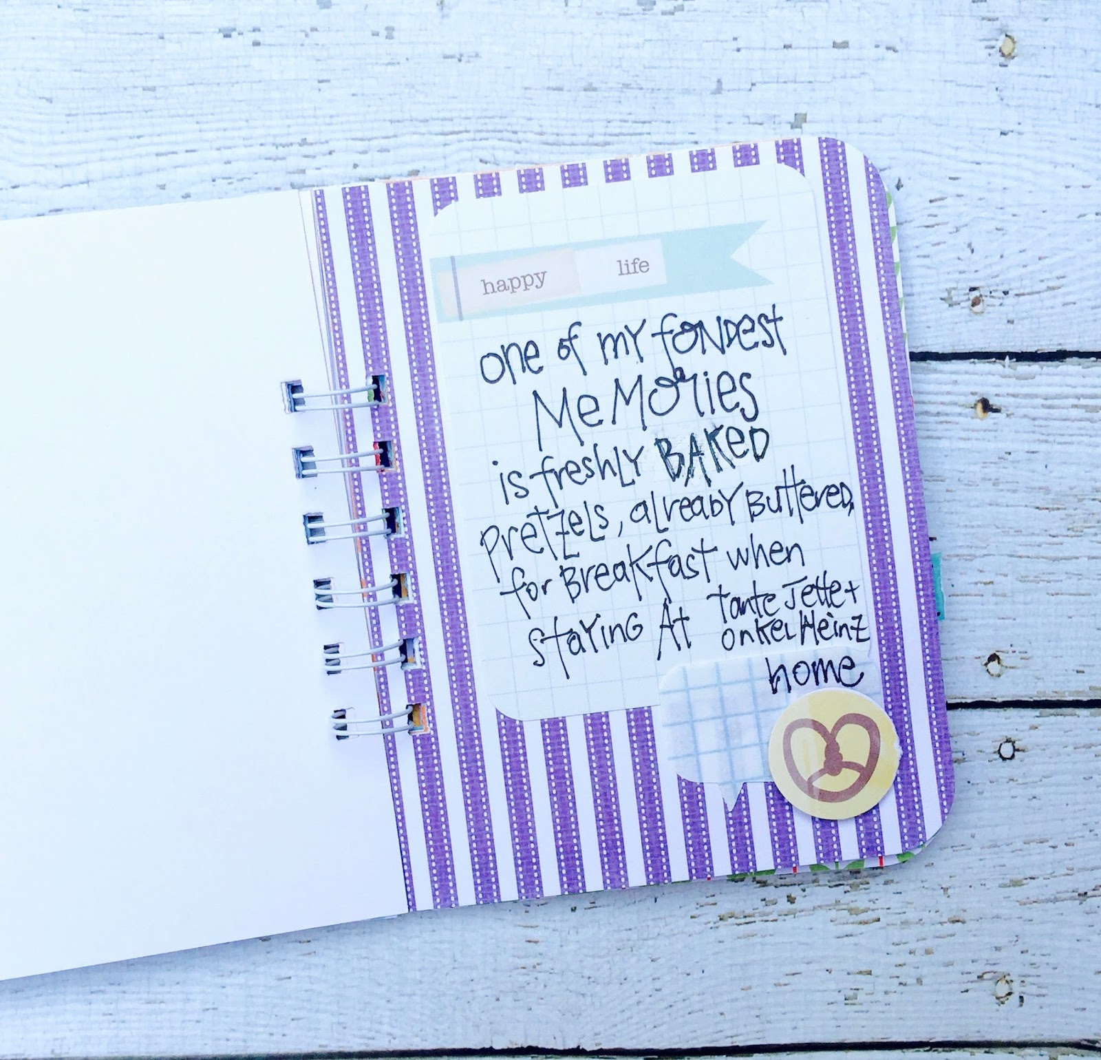 #purple #stripes #pretzel #smashbooking #smashbook #journal #notebook