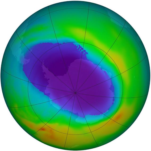 O 'buraco de ozônio' foi tido como problema pela literatura pseudocientífica,  quando ele é um problema inexistente