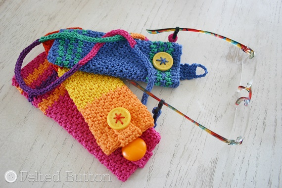 Eyeglass Holder Crochet Pattern (How to Make an I-Cord) by Felted Button using Scheepjes Catona