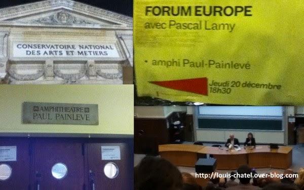 Conférence au CNAM : forum Europe