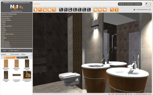 program do projketowania łazienki w 3D