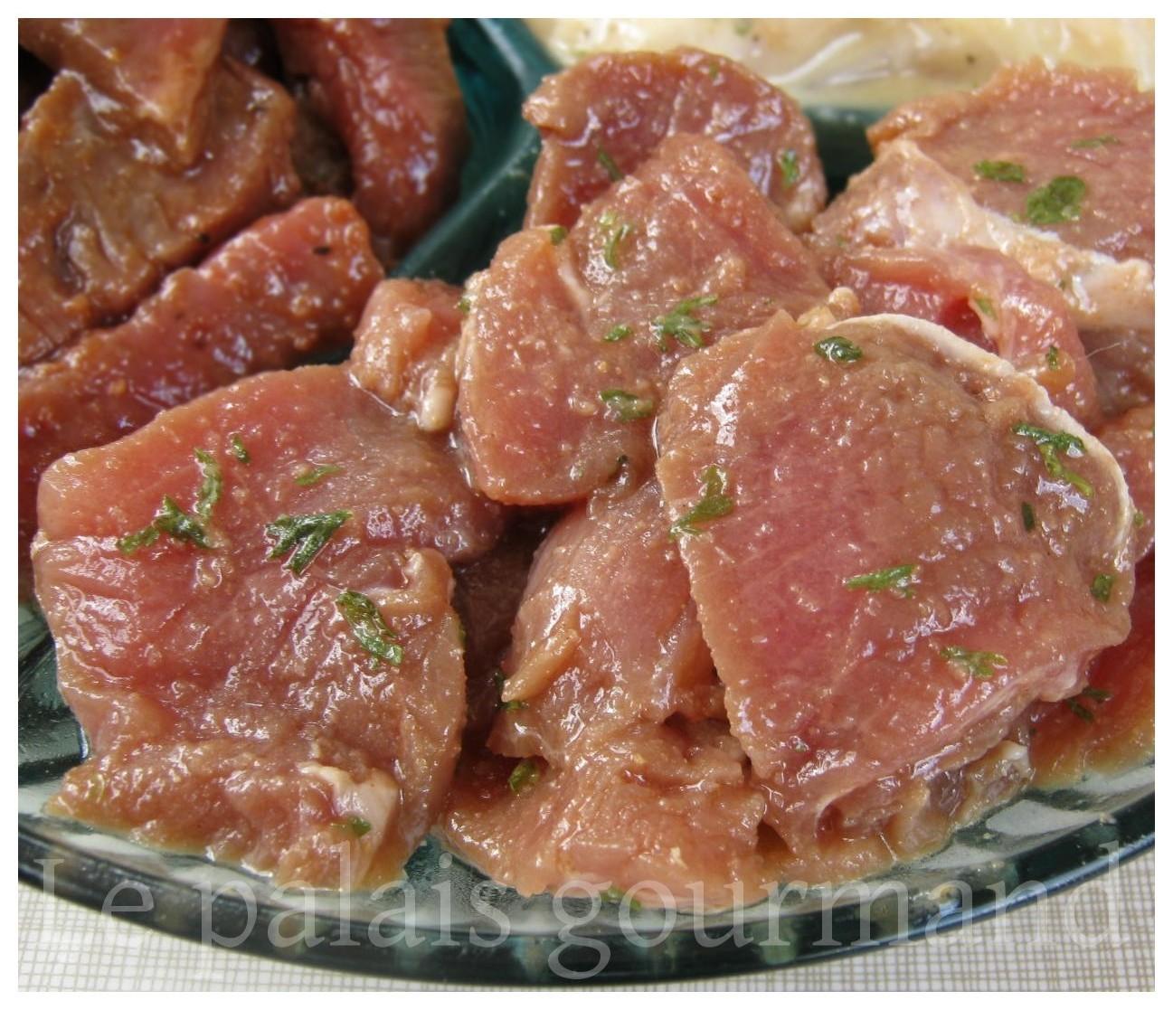 Le palais gourmand marinade pour porc - Marinade pour viande rouge ...