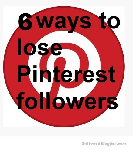 lose pinterst followers
