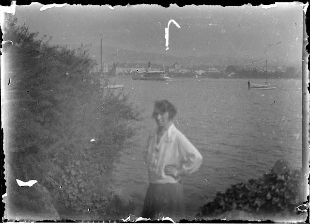 Blick über den Zürichsee Richtung Utoquai - ca. 1910-1920