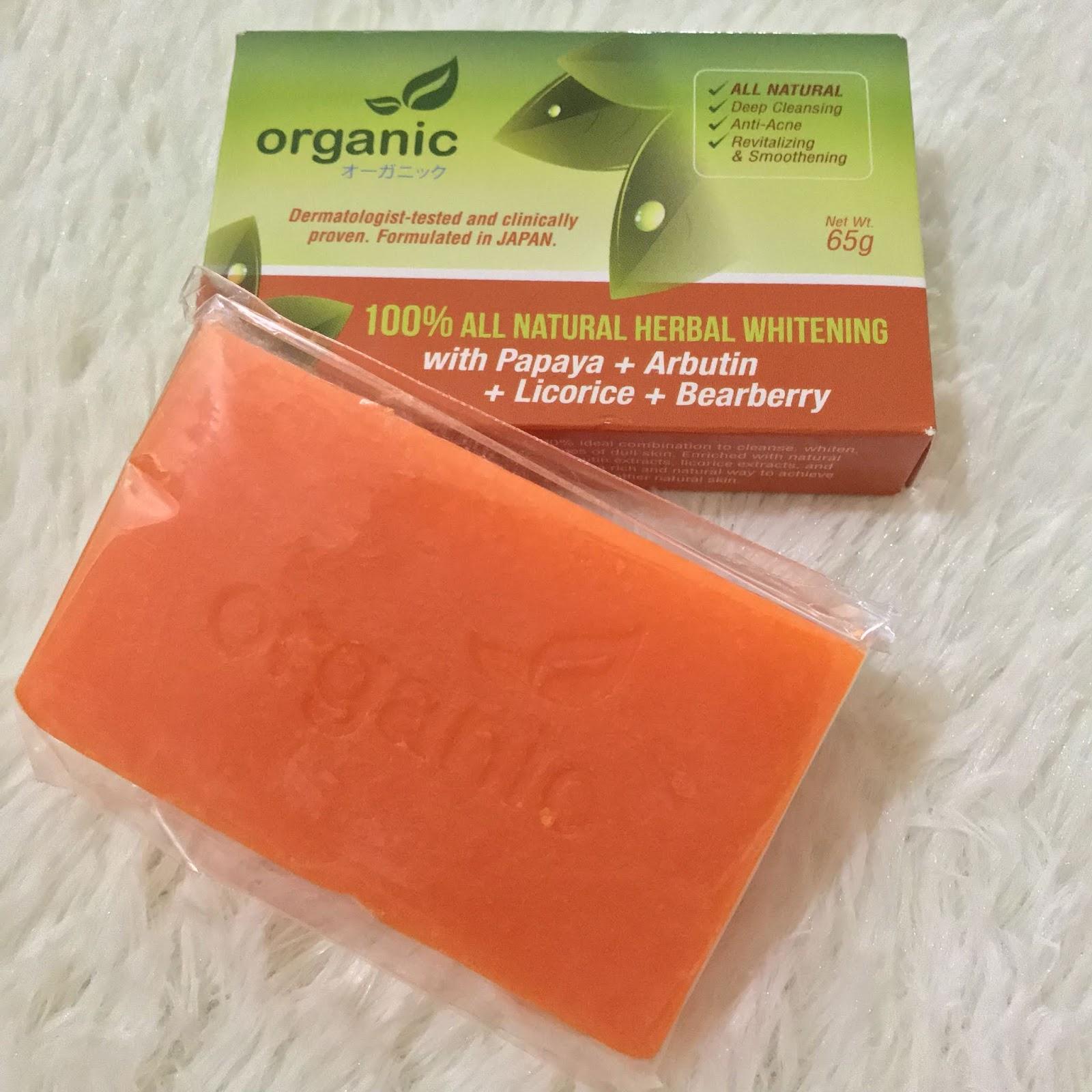 (REVIEW) Organic Skin Japan : 100% Herbal Whitening Soap