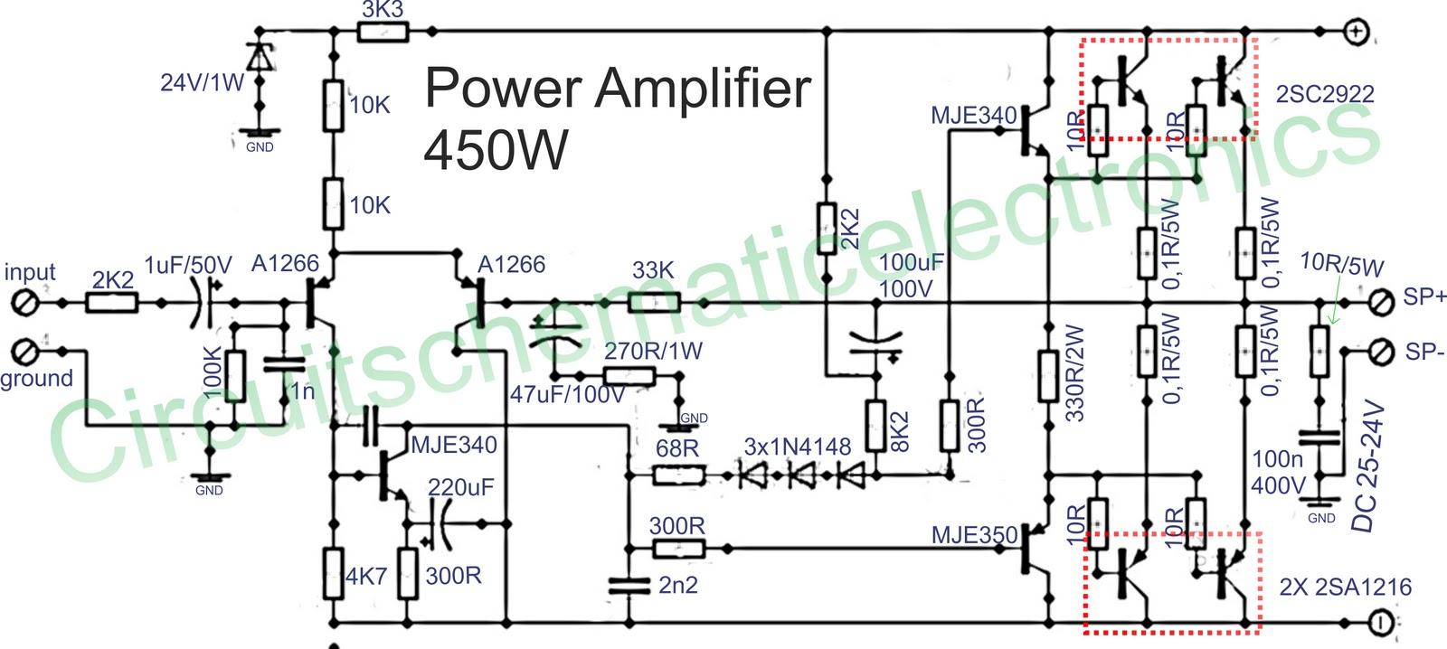 450W Power amplifier Power Amplifier