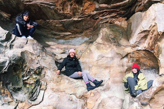 stone fort bouldering, tennessee rock climbing, lauren banawa