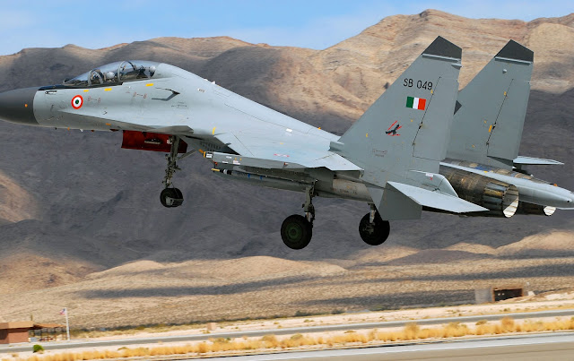 Indian Air Force Sukhoi Su-30MKI Takeoff