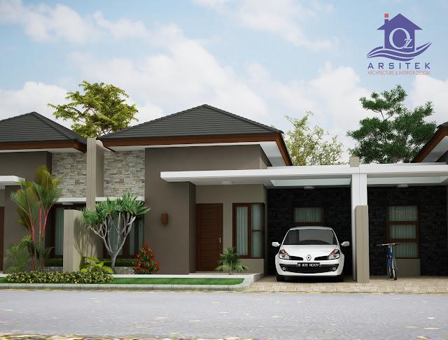 Desain Eksterior Rumah Ndoy Residence di Depok