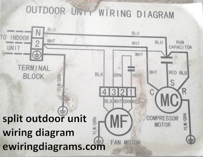 split unit outdoor unit wiring diagram