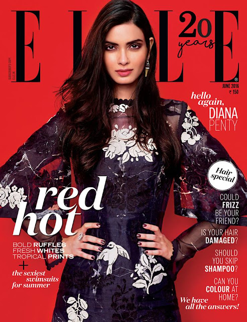 Actress, Model, @ Diana Penty Amazing Pose From Elle India Magazine June 2016