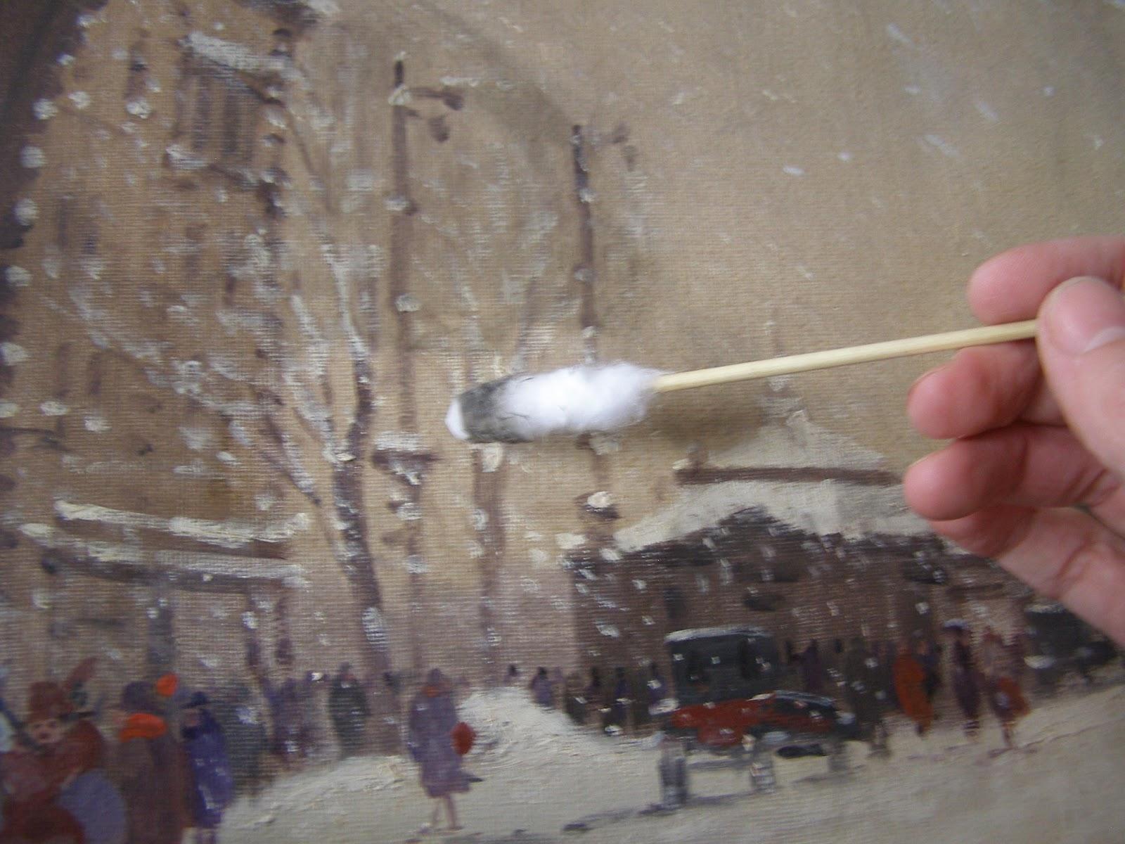festmény tisztítás, Berkes