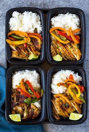 Chili Lime Chicken and Rice Meal Prep Bowls