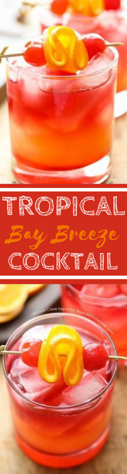 Tropical Bay Breeze Cocktail #drinks #cocktails