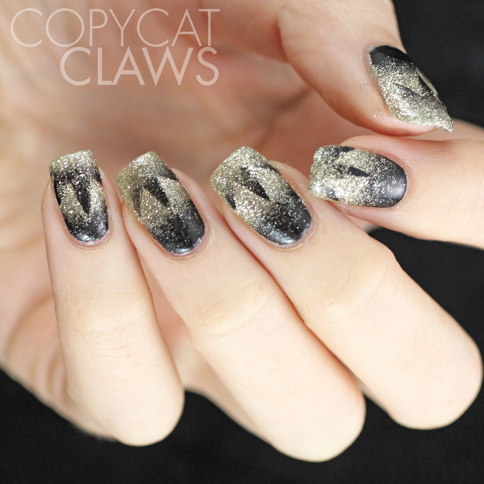 Copycat Claws: New Years Eve Scaled Gradient Nails