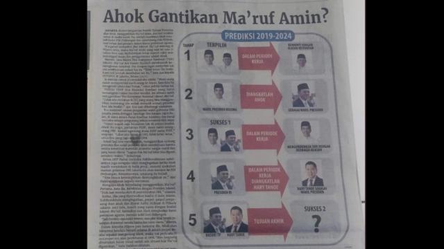 """Viral Berita di Koran, """"Ahok Gantikan Maruf Amin?"""""""