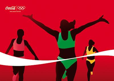 Cartel de coca-cola y olimpiadas - Diseño gráfico