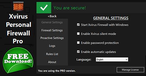 Δωρεάν Xvirus Personal Firewall Pro
