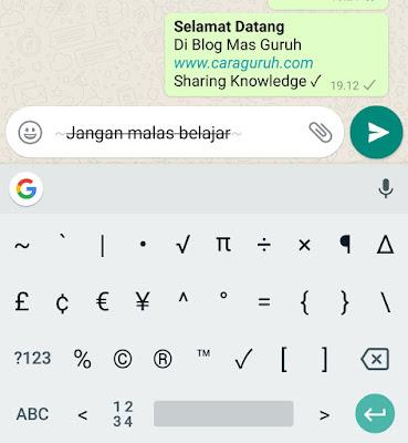 Tips Cara Membuat Huruf Tebal, Miring di Aplikasi WhatsApp