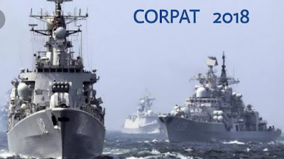 The 32nd India and Indonesia coordinated patrol (CORPAT) exercise was held in Belawan, Indonesia from 11th October 2018 to 27th October 2018