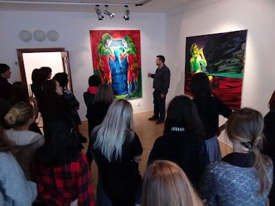 Lubomír Typlt, komentovaná prohlídka pro studenty středních uměleckých škol v Jihlavě