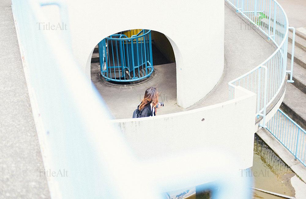 竹山団地にある入り組んだ階段の写真