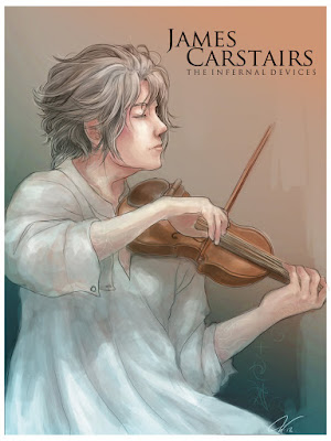 Fan art, James Carstairs, Jem, Cazadores de sombras, Príncipe mecánico, reseña, opinión, crítica, Cassandra Clare, Editorial Destino, Los orígenes, The infernal devices, Los artefactos infernales, segundo libro