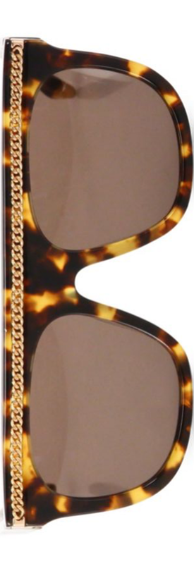 Stella McCartney Chain-Trim 55MM Square Sunglasses