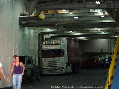 Scania na pokładzie M/F Agios Georgios
