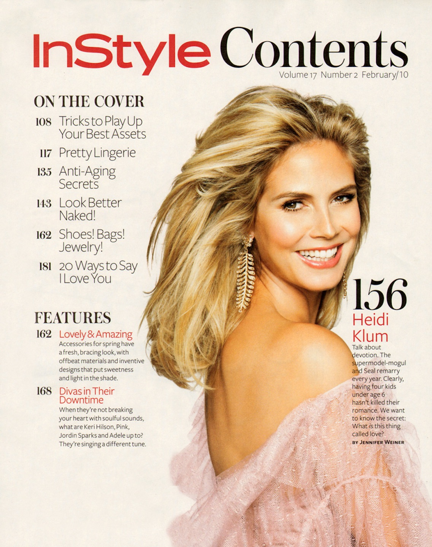 Heidi Klum: Heidi Klum Instyle Magazine